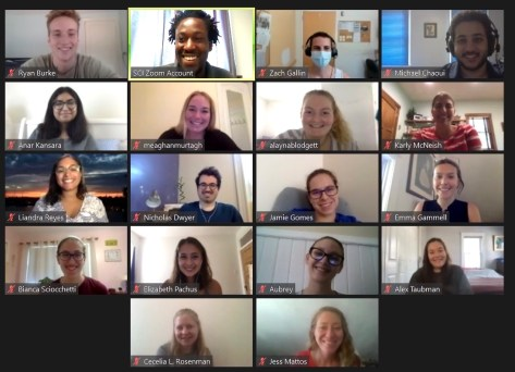 The SCI AmeriCorps program's 2020 members during their virtual orientation.