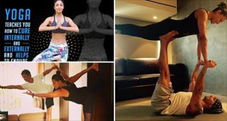 Bollywood Actresses Post Pics in Hot Yoga Poses 1