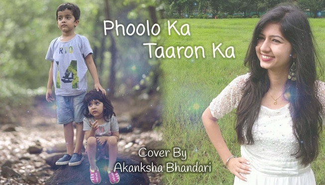 Phoolon Ka Taroon Ka – Cover Song By Akanksha Bhandari