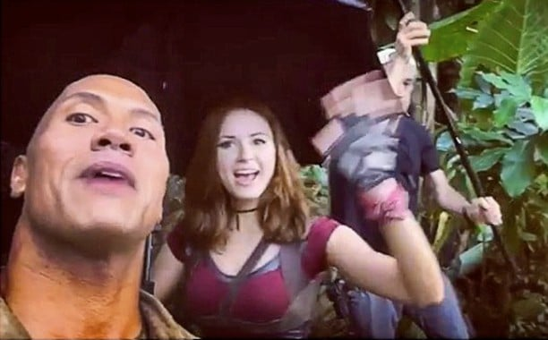 Rain on the Sets of Jumanji, Spirits are Just as high as Ever!