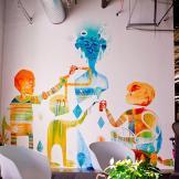 Otro de los murales de la compañía. Foto: Cortesía Facebook