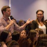 Empleados de Facebook en una sesión de preguntas y respuestas.Foto: Cortesía Facebook
