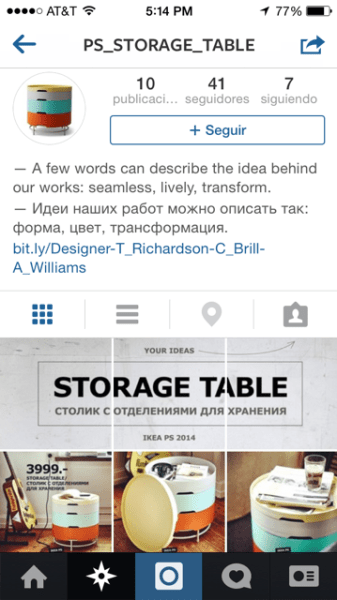 """Aquí llegamos a la cuenta de la """"storage table"""" en donde podemos ver las distintas funciones de la mesa."""