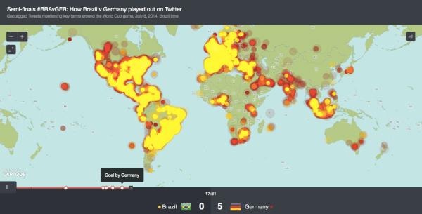 Semifinales #BRAvGER: Cómo jugaron Brasil y Alemania en Twitter.