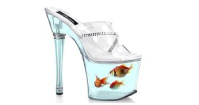 Shoes with goldfish