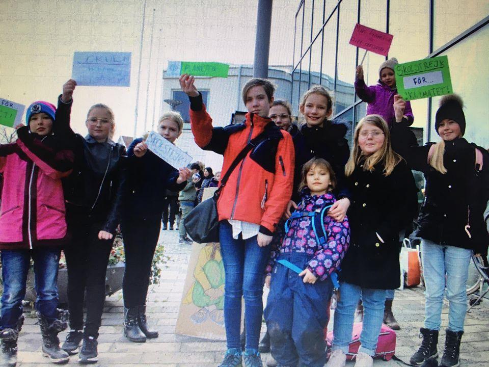 Barnen, medborgare, SSU och Kommunalrådet strejkade med Greta!