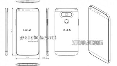 Dizajn LG G5 procureo na crtežima