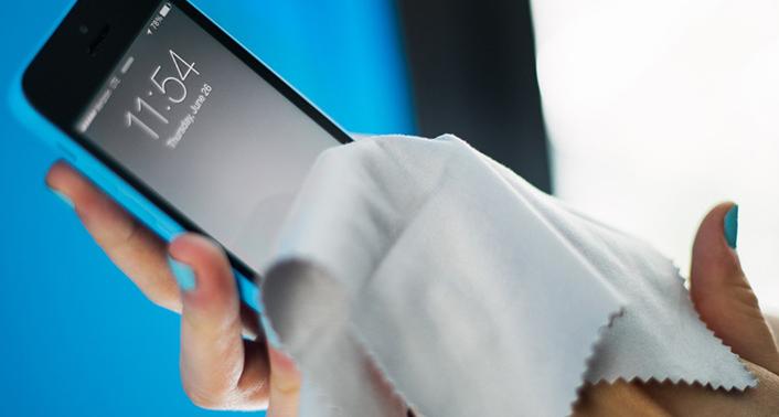 čišćenje mobilnog telefona