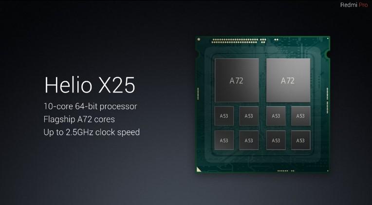 Xiaomi Redmi Pro čipset Helio X25