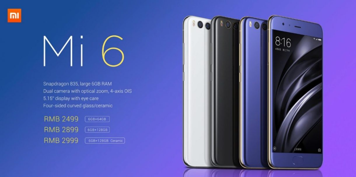 Xiaomi Mi 6 cena