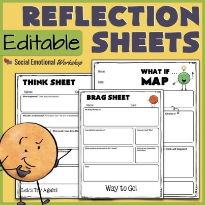 Think sheets for student centered discipline