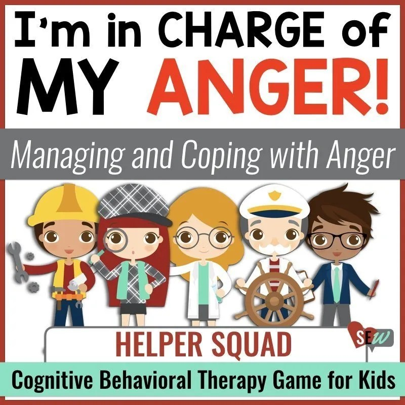 Cognitive behavioral therapy game for elementary school counseling to help students manage their anger, use coping strategies, and take other's perspective.