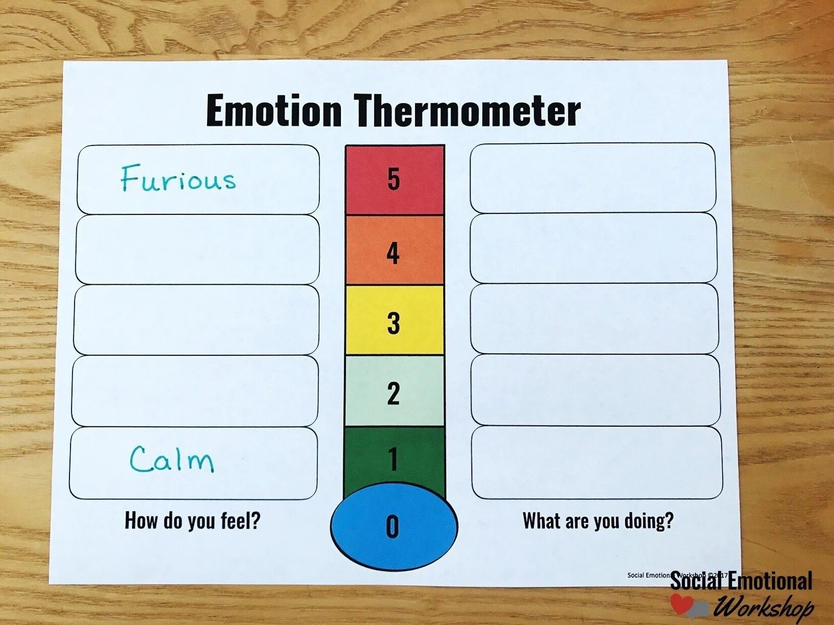 Using a feelings thermometer step by step