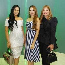 Dannelis Veras, Nahiony Reyes y Berenice Ramírez
