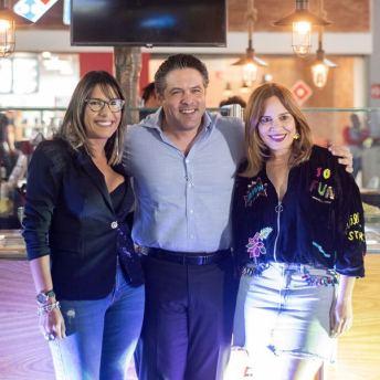 Elvira Elisa Genao, Juan José Cesteros y Brenda Sánchez.