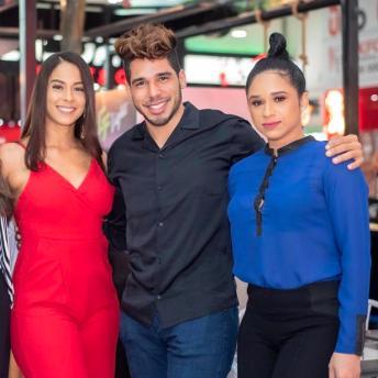 Lowanny Rosario, Miguel Ortega y Wendy Sánchez.