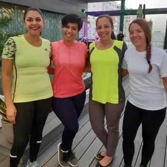 Michel Familia, Aylin Herasme, Lady Rodríguez y Aura Reyes