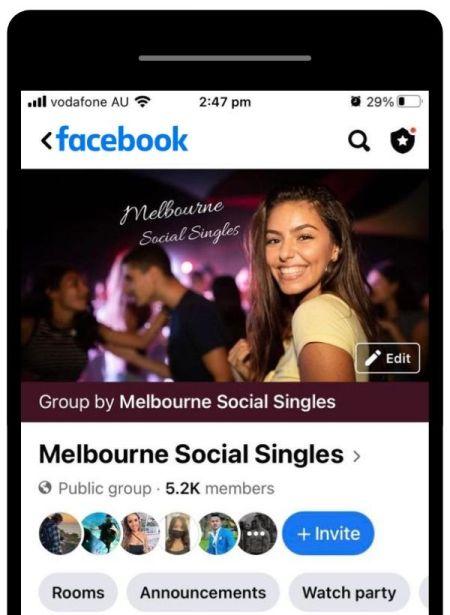 Speed dating Melboune Social Singles Facebook group