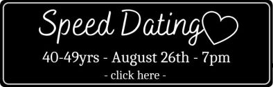 Black speed dating booking button for 40-49yrs singles event at Storyville
