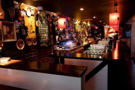 bottom end sports bar dimly lit