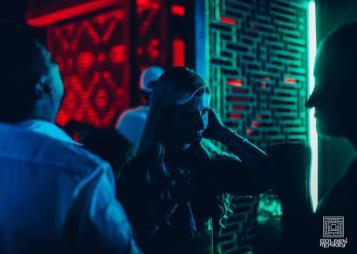 woman dancing at golden monkey nightclub