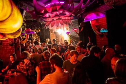 rave dance party at storyville nightclub in melbourne cbd australia
