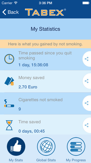 Ex Smoker iOS Screen1