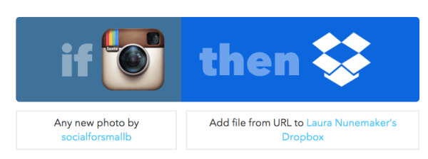 ifttt recipe instagram to dropbox