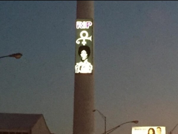 prince tributes Corey tower