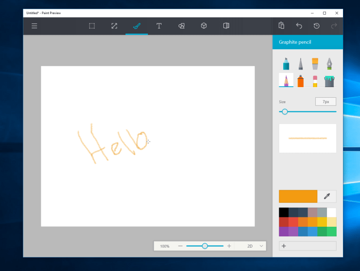 Paint app windows 10