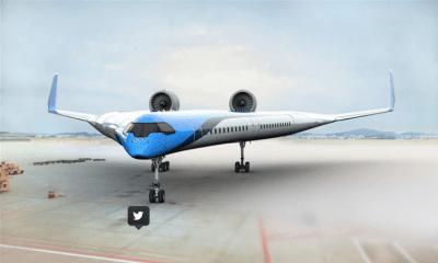 El Flying-V es más pequeño y ligero que los modelos actuales, lo que le permite reducir importantes cantidades de combustible (Foto: KLC)