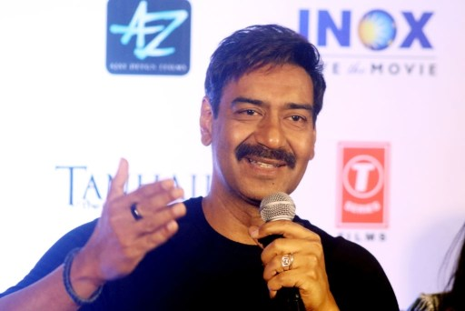 Indian star Actor Ajay Devgn at meet the press at the new film Tanhaji Film Promotion.