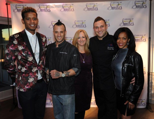 inaugural-serving-up-smiles-tasting-event-with-chef-roble-chef-barret-beyer-giselle-miller-vp-of-events-chef-chris-nirschel-and-michele-hall-duncan-executive-director