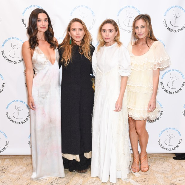 Candice-Miller,-Mary-Kate-Olsen,-Ashley-Olsen,-Marcella-Guarino-Hymowitz-at-Youth-America-Grand-Prix-Gala-by-Presley-Ann-PMC