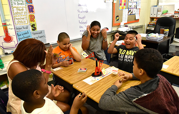 League School Developmental & Behavioral Challenged Students at Play