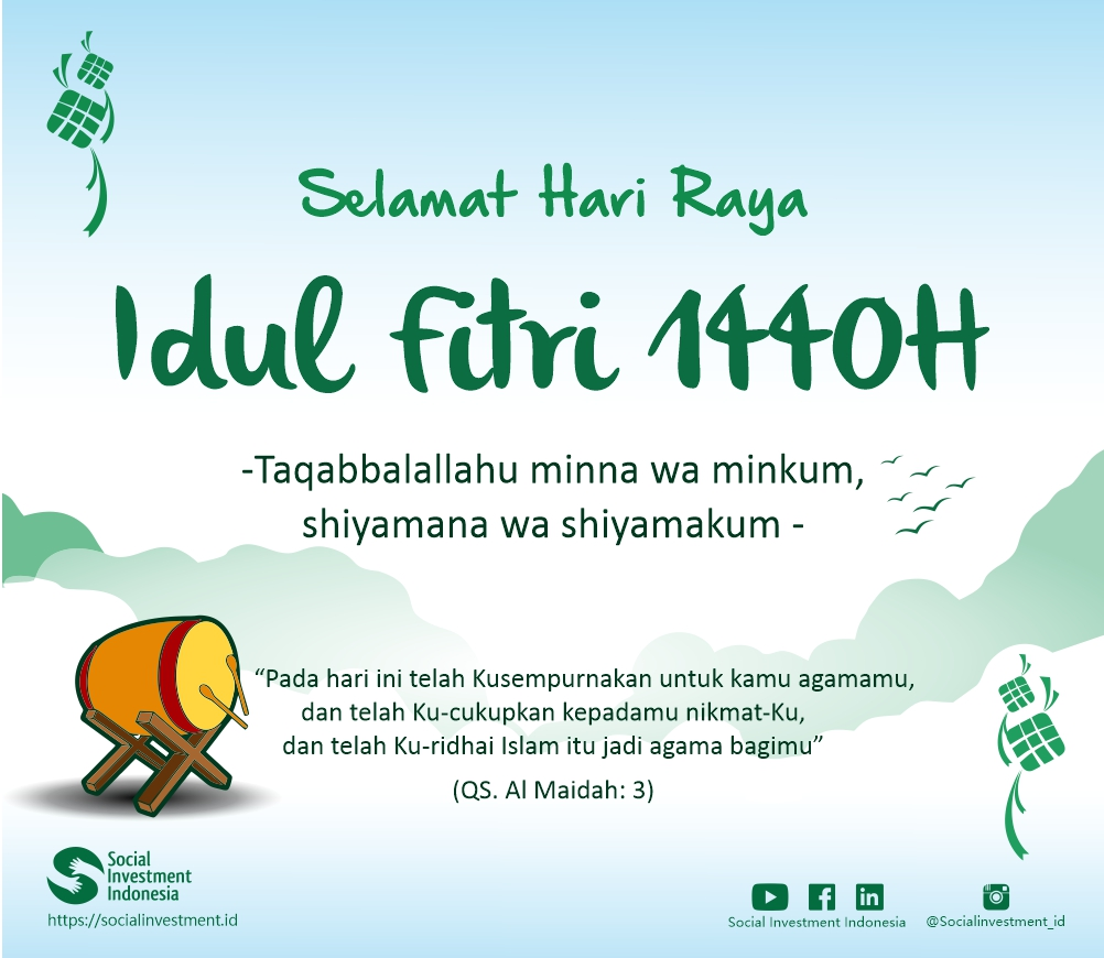 Selamat Hari Raya Idul Fitri 1440h Social Investment Indonesia
