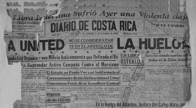 Resultado de imagen para huelga bananera en costa rica