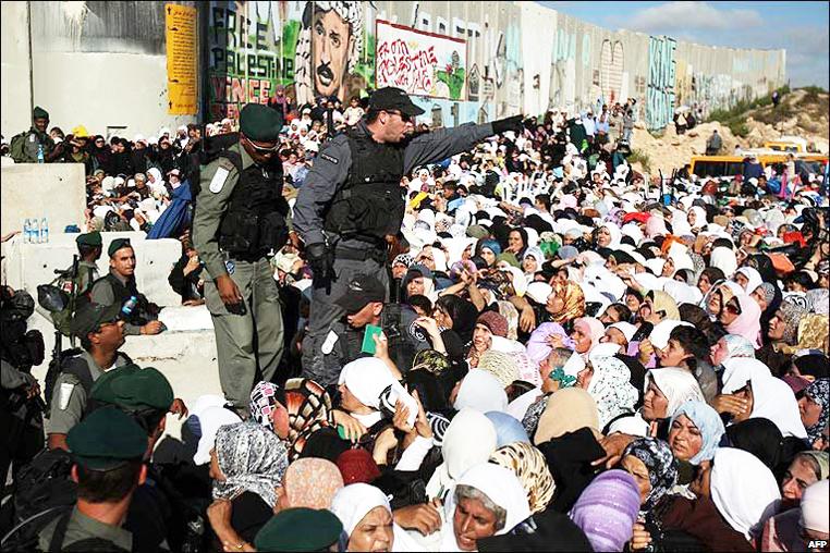 April 2017 Israeli checkpoint
