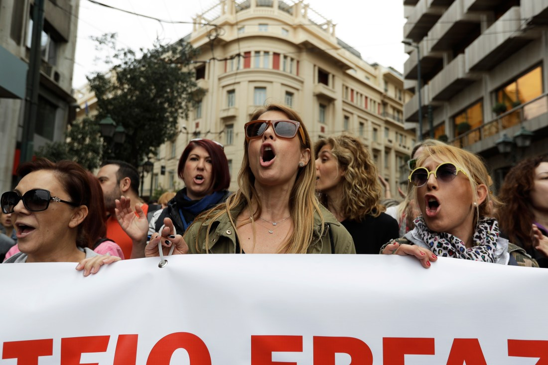 APTOPIX Greece General Strike