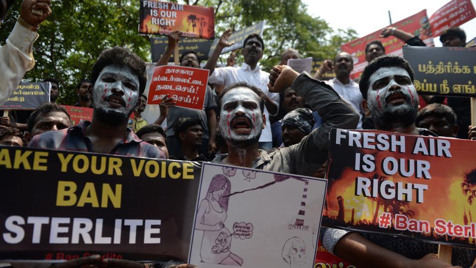 July 2018 Tamil protest AFP