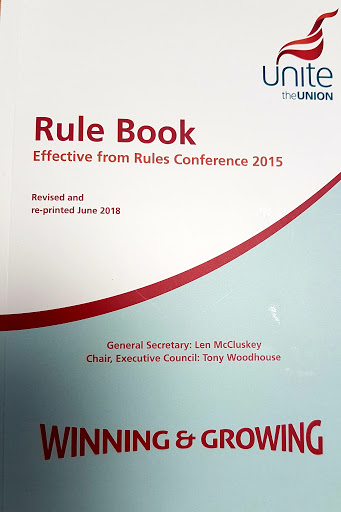 unite the union rule book 2015