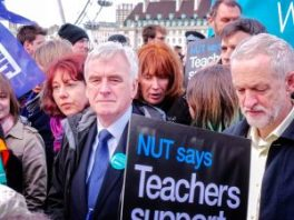 Jeremy Corbyn and John McDonnell supporting the junior doctors. (Photo: Garry Knight, Flickr public domain)