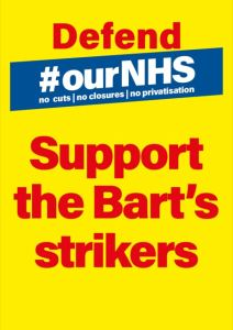Lobby Barts Health AGM. Solidarity with Barts Strikers @ Stratford Old Town Hall