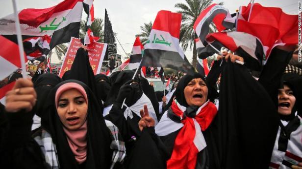 Jan. 2020 Iraq protest (CNN)