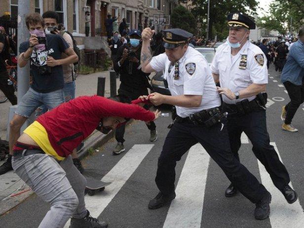 Cops Brooklyn May 30 (John McCarten:The Gothamist)