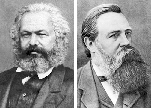 """Rudolf Steiner: Marx and Engels """"reincarnations"""" of 9th century feuding  Landowners out to """"set right what they had done to one another."""" 