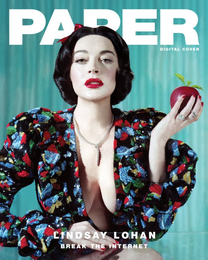Lindsay Lohan Paper magazine