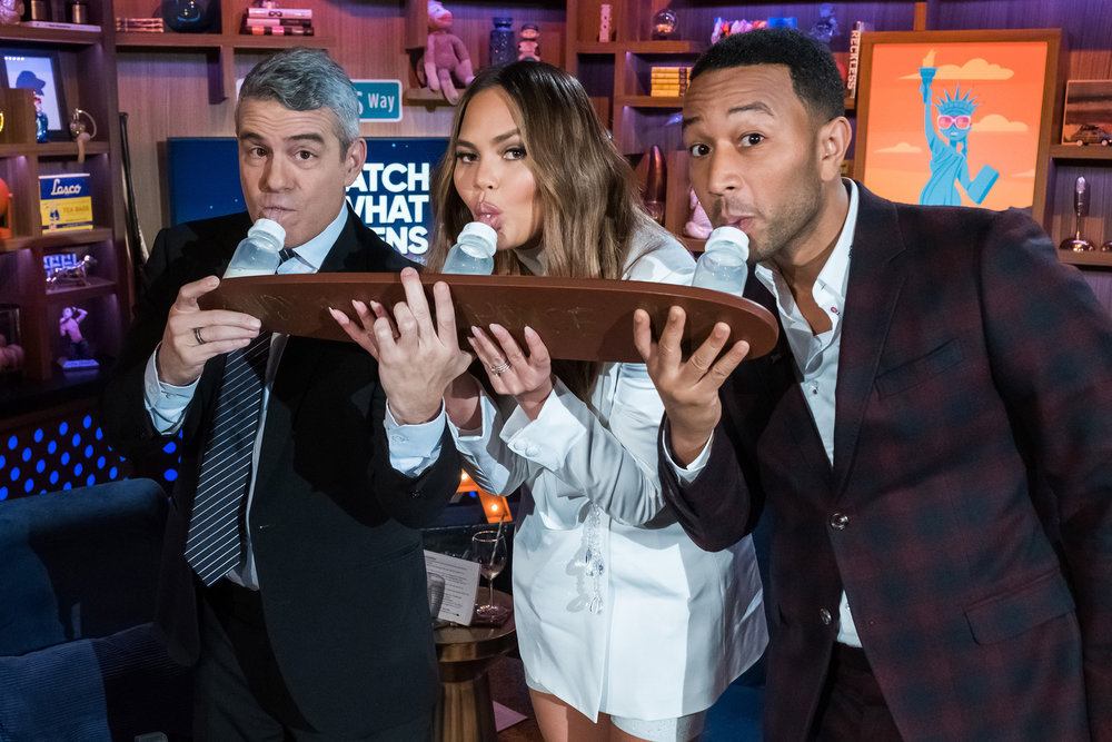 Chrissy Teigen & John Legend on WWHL