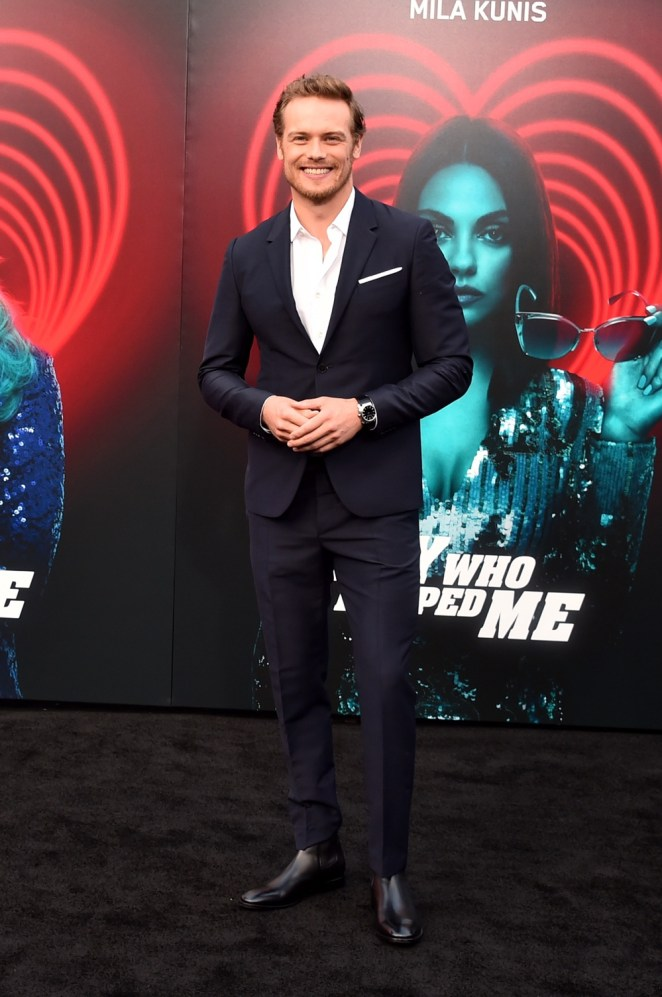 """Sam Heughan Premiere Of Lionsgate's """"The Spy Who Dumped Me"""" - Arrivals"""