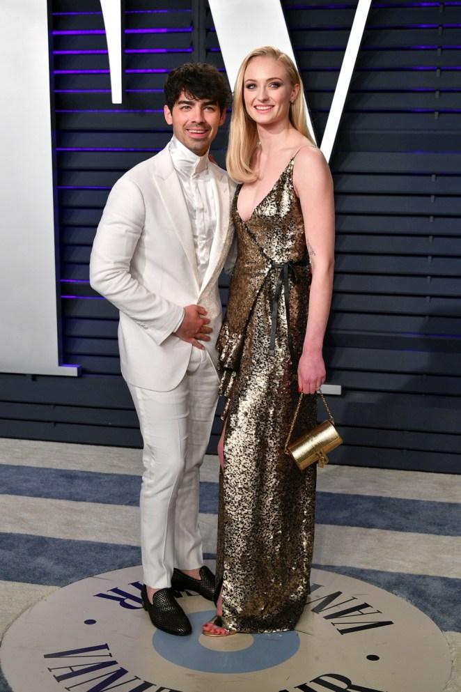 Sophie Turner and Joe Jonas 2019 Vanity Fair Oscar Party Hosted By Radhika Jones - Arrivals